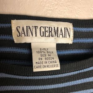 Vintage Tops - Vintage Saint Germain Silk Top